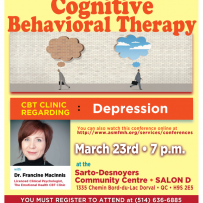 Conference Webinar:Cognitive Behavioral Therapy-Depression