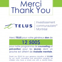 Thank You TELUS for your generous donation