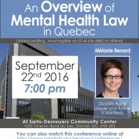 Webinar: An Overview of  Mental Health Law  in Quebec