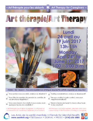 [:en]Art Therapy for the Caregivers[:fr]Art thérapie pour les proches aidants[:] @ Friends for Mental Health | Dorval | Québec | Canada