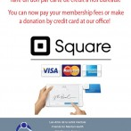 You can now pay membership with credit cards