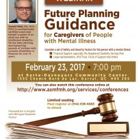 Webinar/Conference: Future Planning Guidance for Caregivers of People with Mental Illness