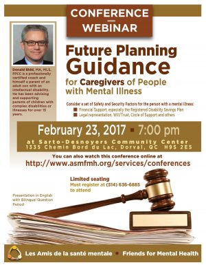 [:en]Conference Webinar: Future Planning Guidance for Caregivers of People with Mental Illness[:fr]Conférence Webinar: Future Planning Guidance for Caregivers of People with Mental Illness[:] @ S a r t o - D e s n o y e r s C o m m u n i t y C e n t e r | Fairmont City | Illinois | United States
