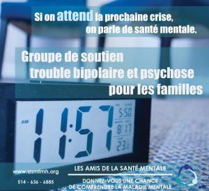 Bipolar Disorder and Psychosis Support Group @ Friends for Mental Health/Les Amis de la santé mentale | Beaconsfield | Quebec | Canada