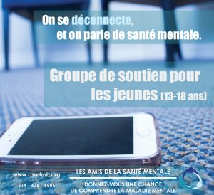 Youth Support Group (13-18 yrs) @ Les Amis de la santé mentale | Beaconsfield | Quebec | Canada