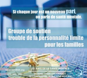 Borderline Personality Disorder Support Group @ Friends for Mental Health/Les Amis de la santé mentale | Beaconsfield | Quebec | Canada