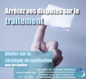Motivational Strategies Towards Treatment @ Les Amis de la santé mentale | Dorval | Québec | Canada